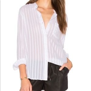Rails Charli White Shadow Button Down Shirt D